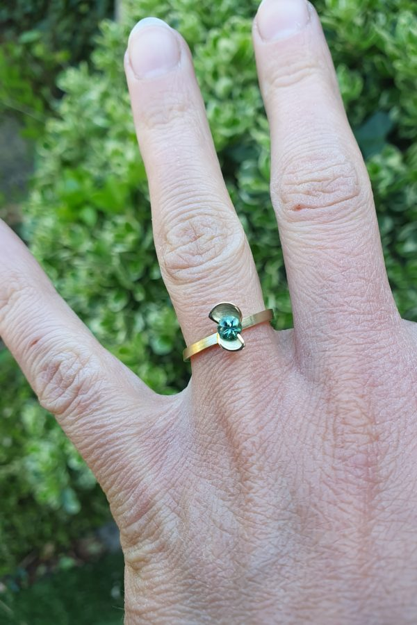 paypal betaling, neede, sieraad, art deco, seedling, botanical, trouwring, verlovingsring, engagement ring, solitair ring